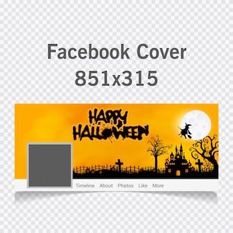 Halloween horror hintergrund mit schönen halloween text abdeckung