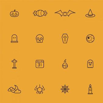 Halloween icon sammlung