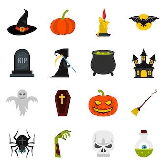 Halloween-ikonen eingestellt