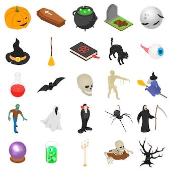 Halloween-ikonensatz