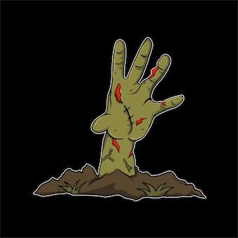 Halloween illustration zobie für t-shirt