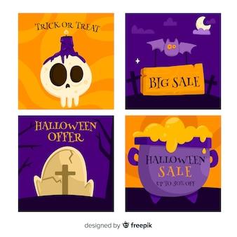 Halloween instagram beitragssammlung