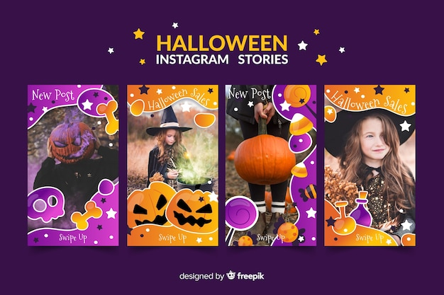 Halloween instagram geschichten collectio