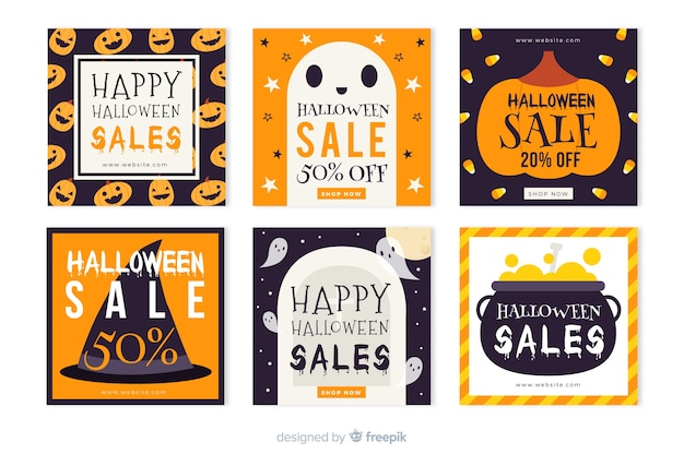 Halloween instagram geschichten sammlung für verkäufe