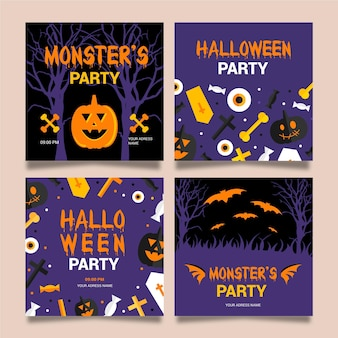 Halloween instagram post pack