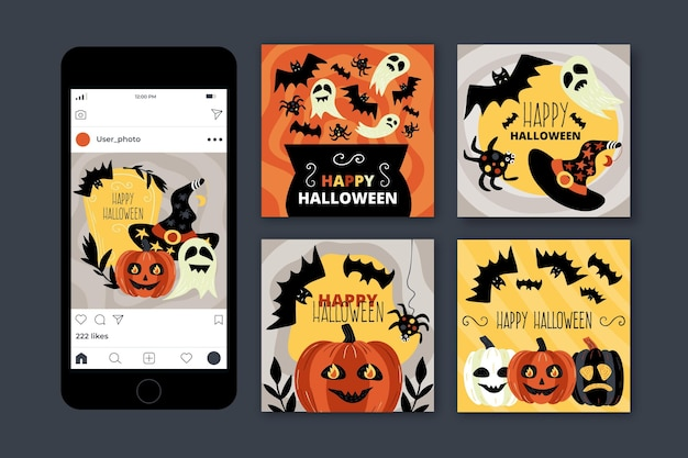 Halloween instagram post sammlung
