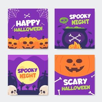Halloween instagram post sammlung