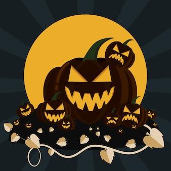 Halloween jack -o laternenkürbis