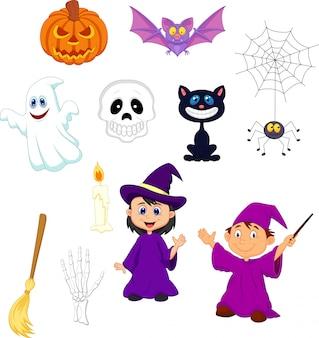Halloween-karikatur eingestellt