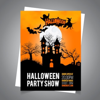 Halloween-karte invitation.halloween-karte plakat.halloween-kartenillustration.