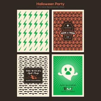 Halloween-karten-sammlung