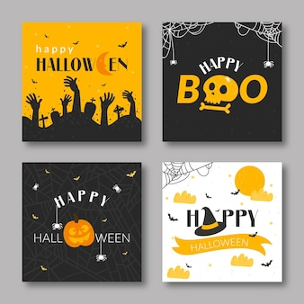 Halloween-kartensammlung
