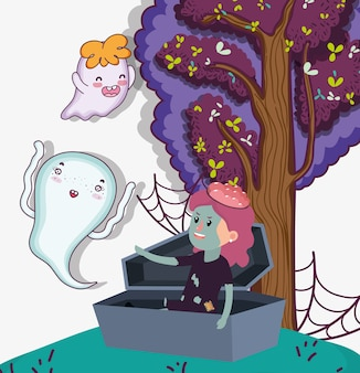 Halloween kinder feier cartoons