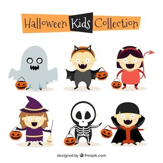 Halloween kinder sammlung