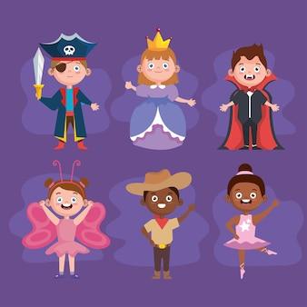 Halloween kinder symbolsammlung
