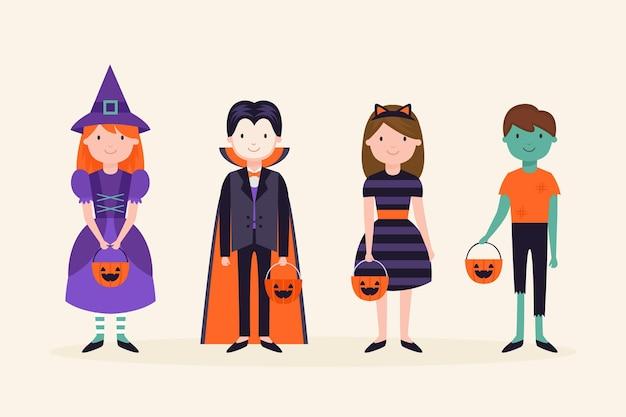 Halloween-kinderkollektionskonzept