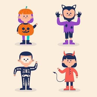 Halloween-kinderkostüme eingestellt