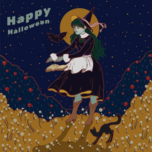 Halloween kleine hexe