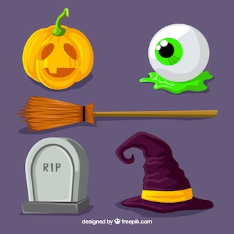 Halloween-kollektion mit modernem stil