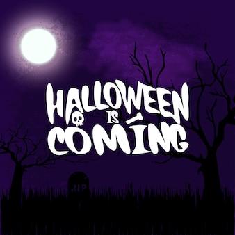Halloween kommt typografie mit kreativem design