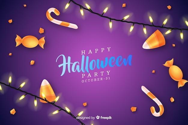 Halloween-konzept mit realistischem hintergrund
