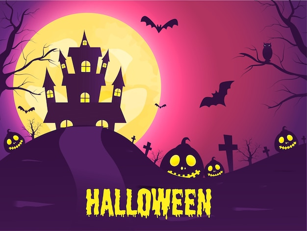 Halloween-konzeptillustration