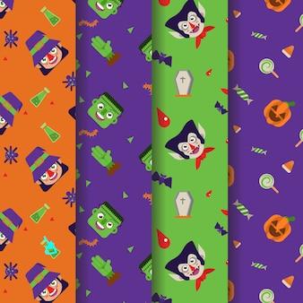 Halloween kopf charakter kostüm muster