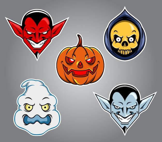 Halloween kopf charakter