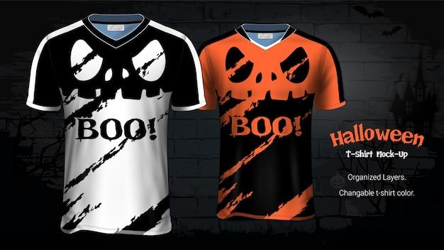 Halloween-kostüm-t-shirts modell-schablone