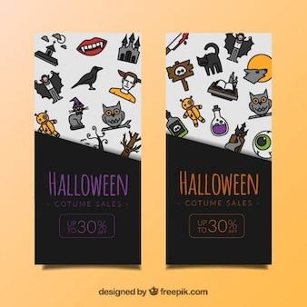 Halloween-kostüm verkauf banner