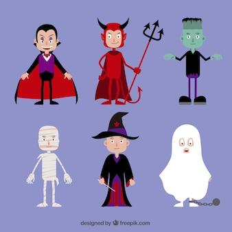 Halloween-kostüme sammlung
