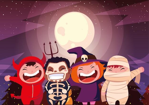 Halloween kostümierte kinder