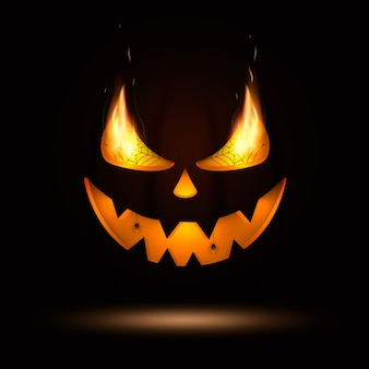 Halloween kürbis augen und mund