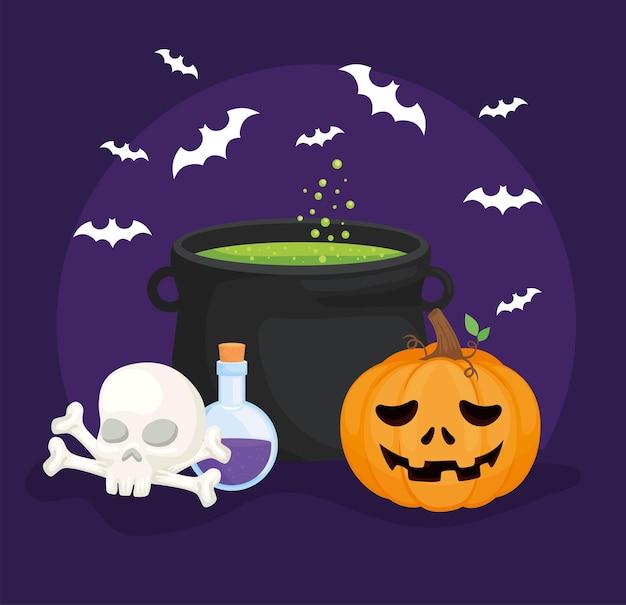 Halloween-kürbis-cartoon