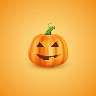 Halloween-kürbis in der realistischen art 3d.