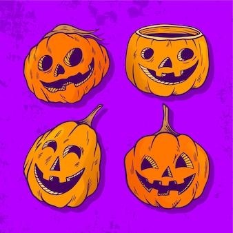 Halloween-kürbis-kollektion