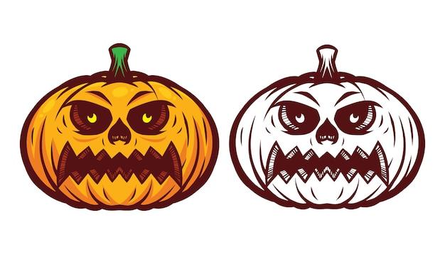 Halloween kürbis maskottchen
