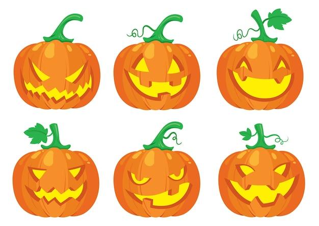 Halloween-kürbis-set
