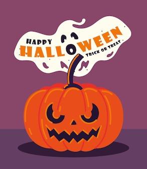 Halloween kürbis und geist