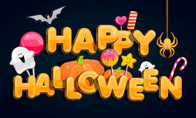 Halloween kürbisbeet im mondschein.