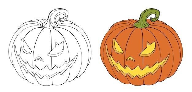 Halloween kürbisillustration