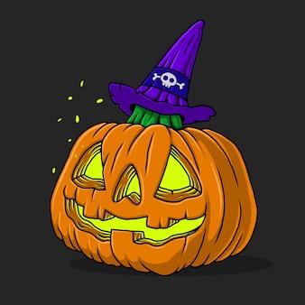 Halloween kürbisköpfe. handgemalt.