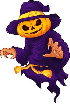 Halloween kürbiskopf charakter