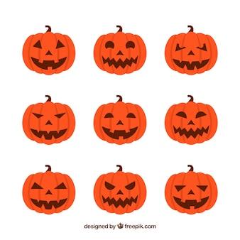 Halloween kürbissammlung