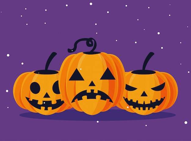 Halloween kürbisse cartoons