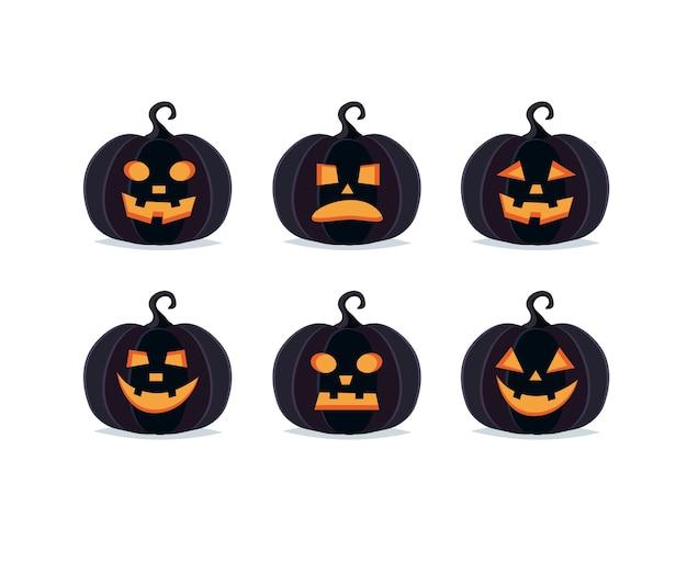 Halloween kürbisse, gruselige jack o laterne sammlung
