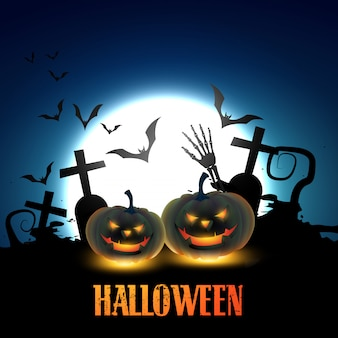 Halloween kürbisse illustration
