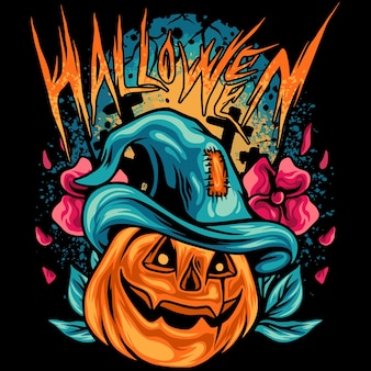 Halloween kürbisse mit dunkler situation