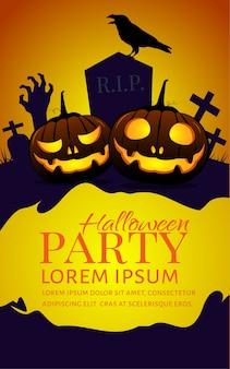 Halloween kürbisse party poster.