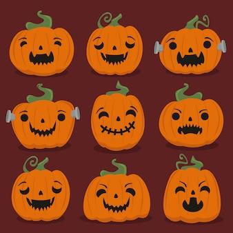 Halloween kürbisse set